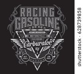 racing gasoline motorcycle... | Shutterstock .eps vector #628739858
