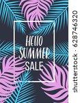hello summer vector...   Shutterstock .eps vector #628746320