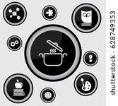 web line icon. pan  saucepan | Shutterstock .eps vector #628749353