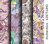 set of tracery colorful... | Shutterstock .eps vector #628751840