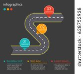 infographics template with... | Shutterstock .eps vector #628752938