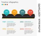 timeline infographics template... | Shutterstock .eps vector #628756490