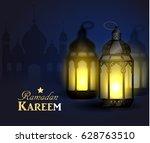 ramadan kareem  greeting... | Shutterstock .eps vector #628763510