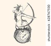 vintage sign of zodiac.... | Shutterstock .eps vector #628767530
