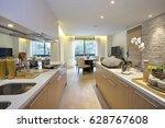 kitchen   modern kitchen style  ...   Shutterstock . vector #628767608