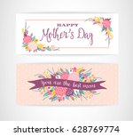 happy mothers day lettering... | Shutterstock .eps vector #628769774