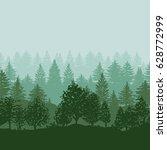twilight forest trees... | Shutterstock . vector #628772999