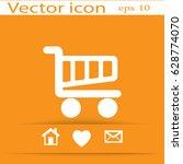 flat vector cart icon