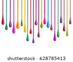 streaks of multi colored paint... | Shutterstock . vector #628785413