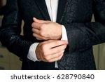 a man in a blue suit... | Shutterstock . vector #628790840