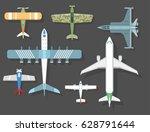 vector airplane illustration...   Shutterstock .eps vector #628791644
