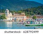 paraty  rio de janeiro   brazil.... | Shutterstock . vector #628792499