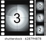 old film movie countdown frame. ... | Shutterstock .eps vector #628794878