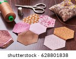 Sewing Of Hexagon Pieces Of...