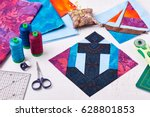Sewing Patchwork Of Block...