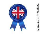 medal with united kingdom flag...   Shutterstock .eps vector #628807874