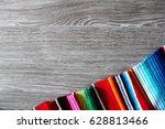 poncho serape background... | Shutterstock . vector #628813466