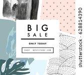 creative social media sale... | Shutterstock .eps vector #628814390