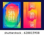 summer sale poster or flyer... | Shutterstock .eps vector #628815908