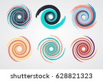 Color Spiral Swirl Set Circle...