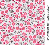 floral pattern. pretty flowers... | Shutterstock .eps vector #628826624