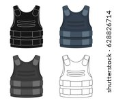 bulletproof vest icon in...