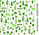 seamless pattern with green... | Shutterstock .eps vector #628830188