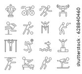 set of athletics related vector ... | Shutterstock .eps vector #628840460