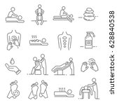 set of massage related vector