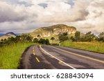 Mountain Road Landscape In...