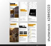 trifold business brochure... | Shutterstock .eps vector #628843223