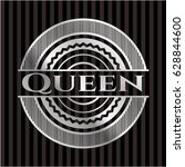 queen silvery shiny emblem | Shutterstock .eps vector #628844600