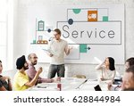graphic of business service... | Shutterstock . vector #628844984