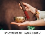 tibetan singing bowl | Shutterstock . vector #628845050