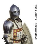 Small photo of Front view of portuguese medieval knight isolated