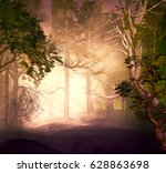 3d Illustration Of Forest In A...