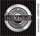 undergraduate silvery emblem or ... | Shutterstock .eps vector #628867628