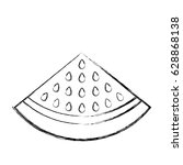 watermelon fresh fruit icon | Shutterstock .eps vector #628868138