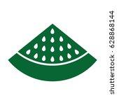watermelon fresh fruit icon | Shutterstock .eps vector #628868144