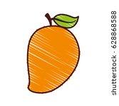 mango fresh fruit icon | Shutterstock .eps vector #628868588