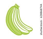 banana fresh fruit icon | Shutterstock .eps vector #628868744