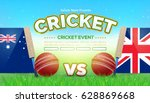 australia uk flag cricket... | Shutterstock .eps vector #628869668
