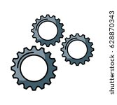 gears machine isolated icon | Shutterstock .eps vector #628870343