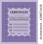 violet certificate or diploma... | Shutterstock .eps vector #628871618