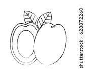 mango fresh fruit icon | Shutterstock .eps vector #628872260