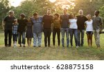 group of people support unity... | Shutterstock . vector #628875158
