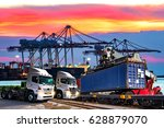 industrial logistics and... | Shutterstock . vector #628879070
