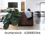 indoor plant in contemporary... | Shutterstock . vector #628880366