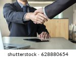 business partnership meeting... | Shutterstock . vector #628880654