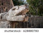 kukulcan representation at the... | Shutterstock . vector #628880783